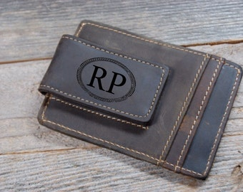 QUANTITY DISCOUNTS!!,  men's wallet, Cowhide leather money clip, personalized leather money clip, leather money clip, credit card wallet
