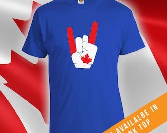 Canada Day Rock n Roll Tshirt,mens womens t-shirt,canada day t-shirt,mens canada day shirt,womens canada day shirt,canadian apparel - CT-487