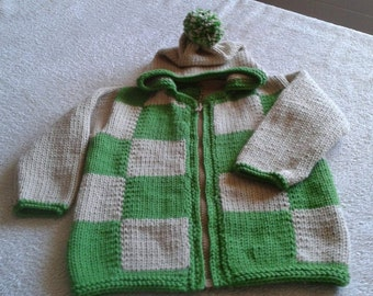 Baby cardigan with hood