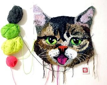 Crochet cat 50 cm