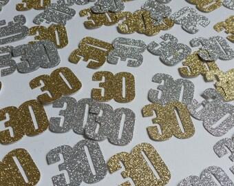 Gold & silver any age glitter confetti. Glitter table confetti birthday party celebrations, Birthday party decorations