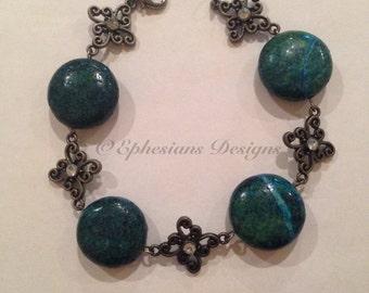 Dyed Turquoise Bracelet