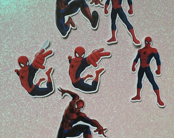 Spiderman cutouts, Spiderman cupcake toppers