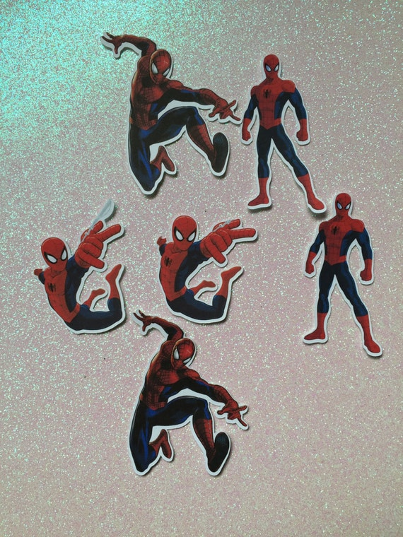 Spiderman cupcake toppers by lollipopparty on etsy picture - Spiderman Cutouts Spiderman Cupcake Toppers