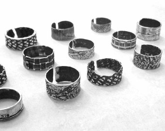 Rings with varied textures