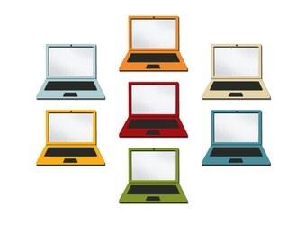 Laptops, Clip Art Set of 7