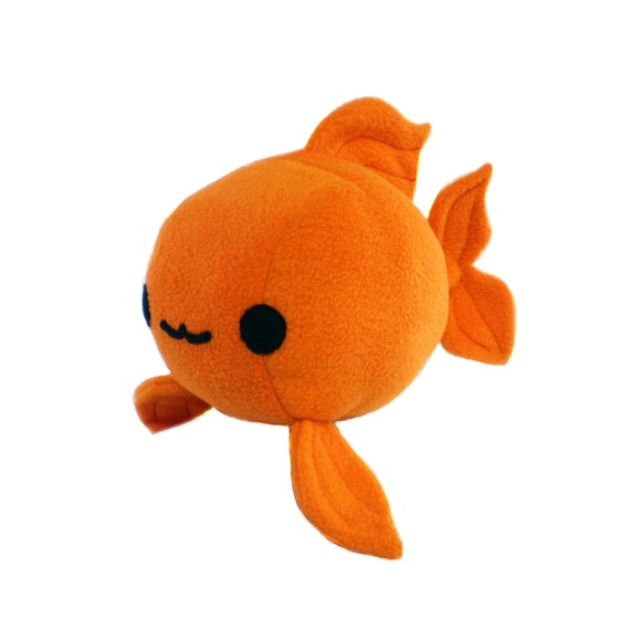 Goldfish plush pattern koi fish toy plushy gold fish sewing for Fish stuffed animal