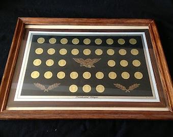 vintage VJG Co presidential plaque 1969