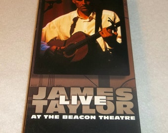 JAMES TAYLOR LIVE  Vhs Video Tape At The Beacon Theater 26 songs