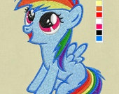 embroidery machine file my little pony Rainbow Dash Baby pes hus jef