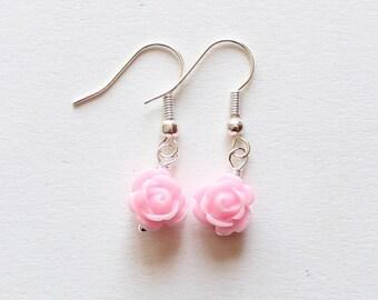 Flower girl earrings, flower girl jewelry, flower girl gift, girls earrings, little flower earrings, wedding jewelry, junior bridesmaid