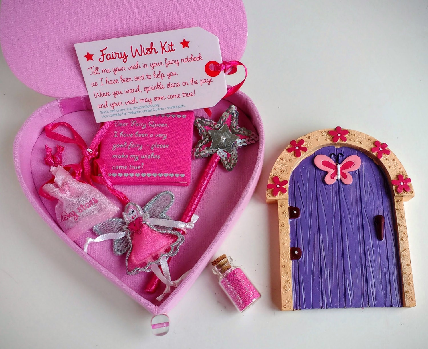 Fairy gift set fairy wish kit fairy door fairy dust for Fairy door gift set
