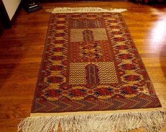 Caucasian Kazak Persian Rug 6x4 very long fringes