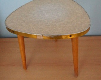 Sale - 25% off - Mid Century - Coffe Table - Germany 1950s - Tripod - Plant Stool