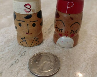 Vintage Chef Salt and Pepper set.