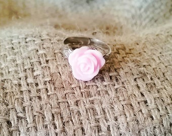 Light Pink Rose Ring