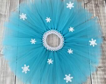 Blue tutu, Snowflake tutu, Ice queen tutu, Blue Snowflake tutu, Frozen tutu, Gift for girls, Aqua blue tutu