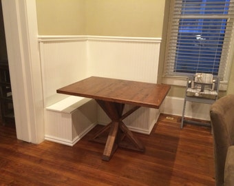 Craftsman Style Kitchen Nook: Corner Bench and Table