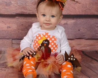 Baby girl first thanksgiving - baby thanksgiving outfit - toddler thanksgiving outfit - baby fall outfit - over the top headand
