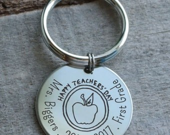 Happy Teachers Day Personalized Key Chain - Engraved