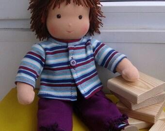 waldorf doll boy, rag doll, textile doll, fabric doll, custom doll, cloth doll, doll boy, soft doll boy