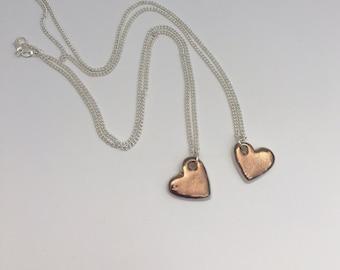 Gold porcelain heart necklace