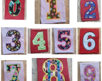 Chunky Number Set 0-9 in 5 Sizes ~ 3 Styles ~ Instant Download