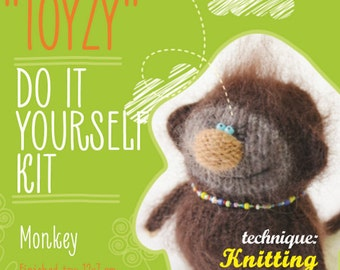 Tz-K006 Toyzy Kit «Monkey» - Technique Knitting
