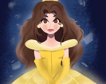 Belle Princess A4 Print