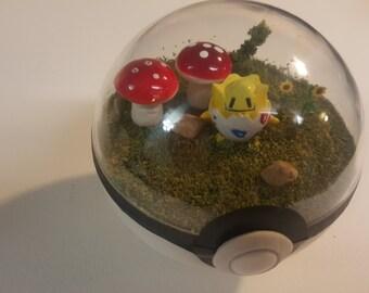 Pokeball Diorama, Fairy Theme (Small)
