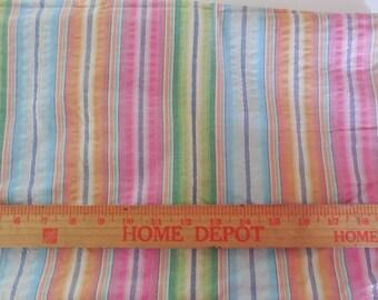 Destash- Lightweight Pastel Stripe Fabric