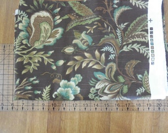 Destash- 1 Full Yard Of Brown Floral Home Decor Upholstery Fabric