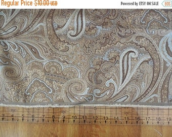 On sale Destash- Fabric Remnant Brown Paisley Upholstery Fabric