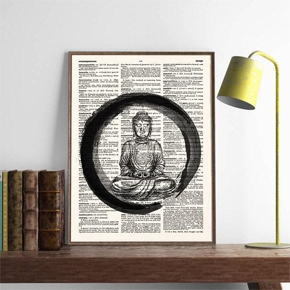 Yoga Studio Wall Decor : Buddha wall art print yoga studio decor zen