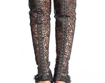 Black Lace/leg gaiters