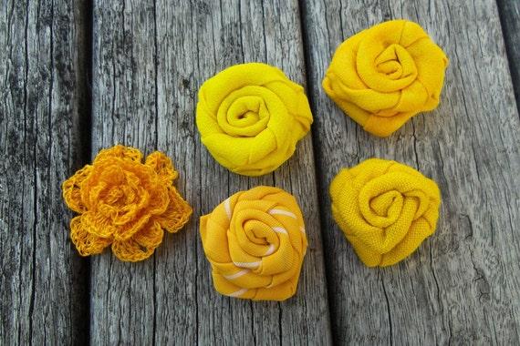 Yellow Men Lapel Flower -Fabric Rose Lapel- Men Lapel Flower-Men Lapel Button-Fabric Lapel Flower - Yellow Lapel Flower-Crochet Lapel Flower