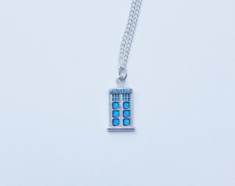 Dr Who Necklace, Tardis Necklace, Dr Who Jewelry, Tardis Charm, Police Box, Dr Who, Whovian, Tardis, Police Necklace, Dr Who Charm, Police