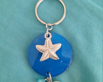 Handmade starfish keychain