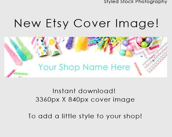 Etsy Cover Photo / Etsy Cover Image / Premade Etsy Banner / Premade Cover Photo / Shop Banner / Cover Image / Party Cover Image / Style-119