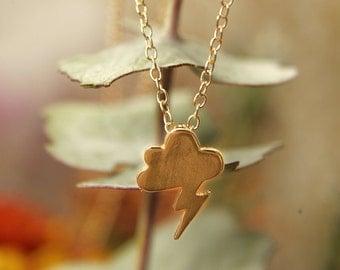 12K Gold Thunder & Lightning Necklace