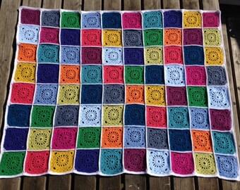 Elmer, blanket in bright colors