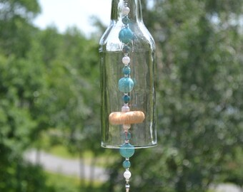 Beer Bottle Wind Chime/Turquoise Cross Wind Chime