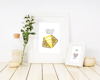 Grilled Cheese Illustration Printable
