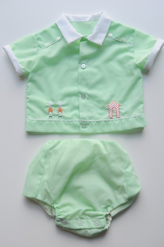 Vintage Baby Clothes Gender Neutral Outfit by SunflowerBay