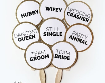 Wedding Photo Booth Props Set of 12