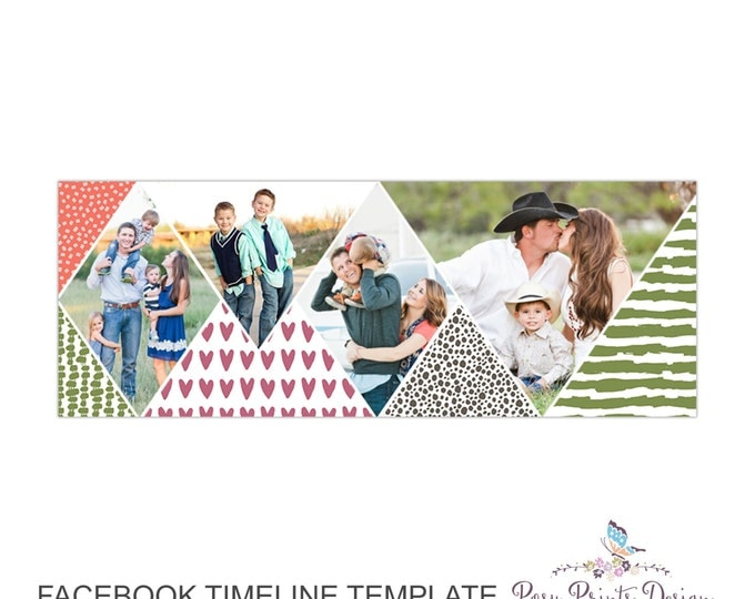 Facebook Timeline Cover Photoshop Template - FBT08