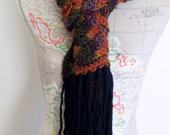 Harvest Long Scarf With Fringe