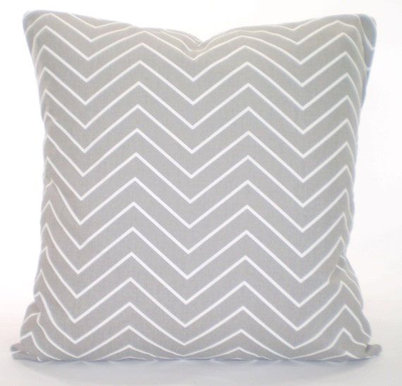 Grey Chevron Throw Pillow : Gray White Chevron Pillow Cover Decorative by PillowCushionCovers