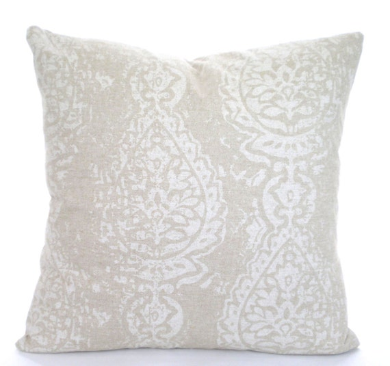 Tan Off White Decorative Throw Pillow Covers Cushions Tan Off