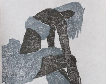 original woodcut- 45,6 X 10,6 inch